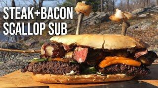 Steak 'n Bacon Scallop Sub Recipe