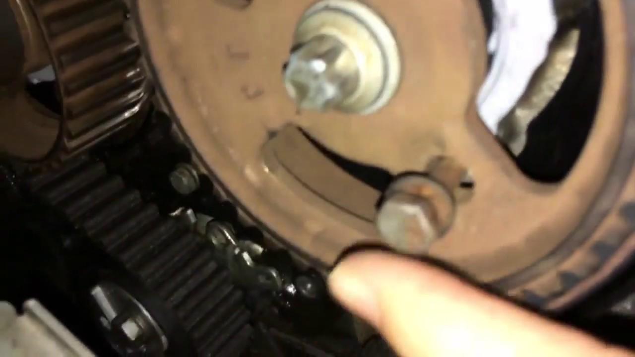tanda pemasangan timing belt peugeot 307 sw ew10 engine peugeot 307sw 2 0 ,2006 timing marks