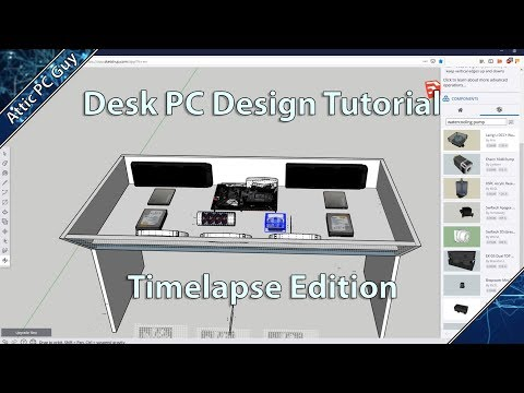 PC Desk Design Tutorial Timelapse!