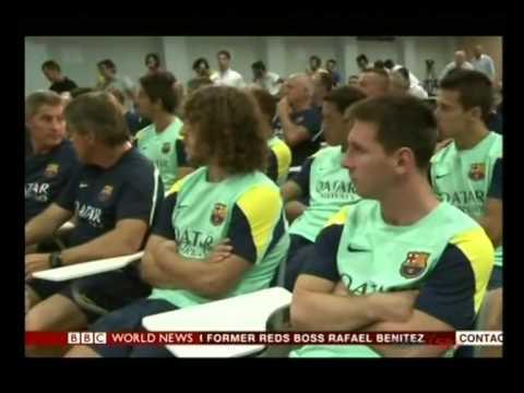 Barcelona coach Vilanova steps down due to illness