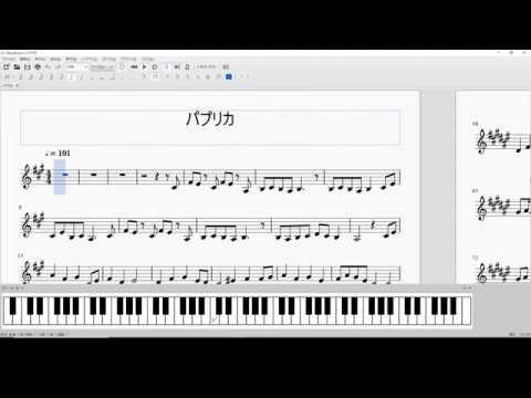 「パプリカ」右手のみピアノ楽譜 , YouTube