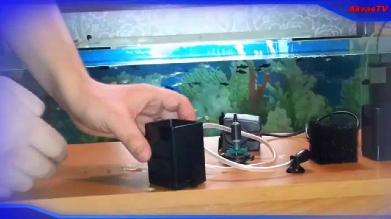 Инструкция по установке аквариумного фильтра