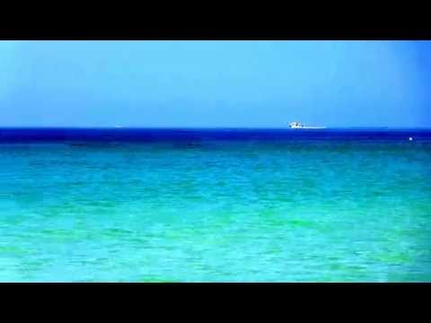 Movie on Negril beach of Jamaica. April - 2015. Caribbean sea.