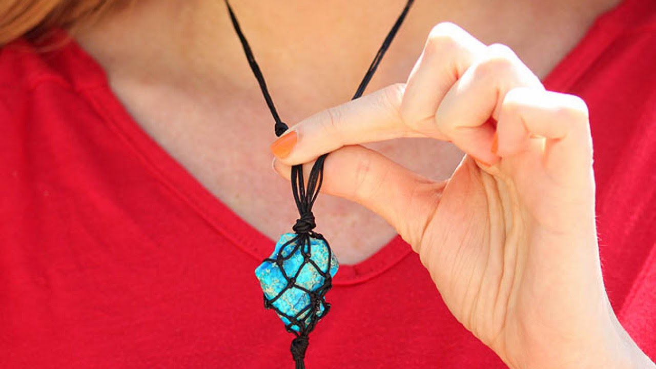 Create A Cool Macrame Necklace - DIY - Guidecentral - YouTube