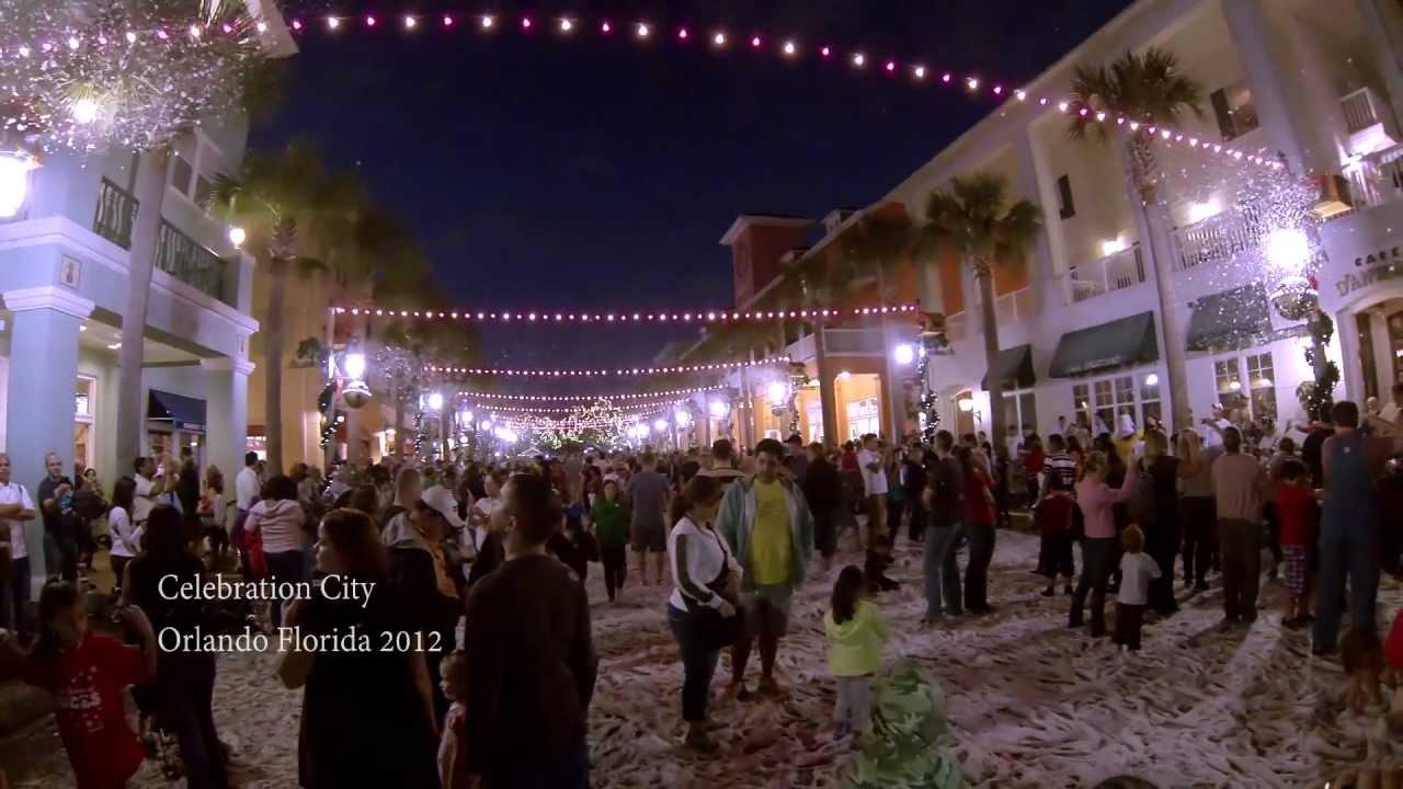 Celebration City Orlando Florida Christmas 2012 - YouTube