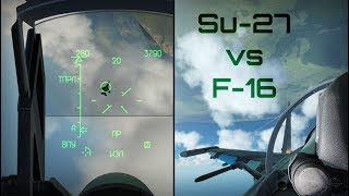 DCS - Su-27 vs F-16, QRF Combat Training - HD 60fps