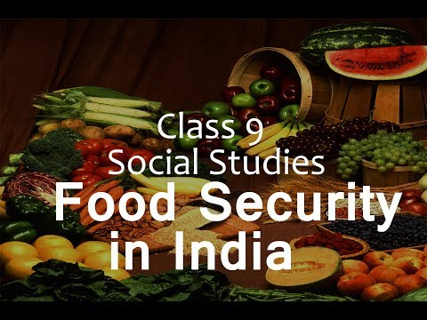 Food Security In India :  CBSE Class 9 Social Science  (Economics)