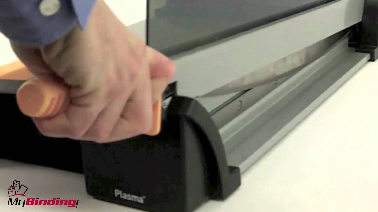 How To Use A Guillotine Paper Cutter Youtube
