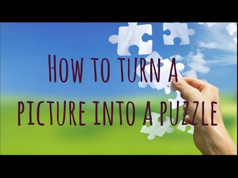 diy how to turn a picture into a puzzle youtube