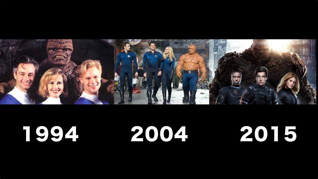fantastic four transformation movie 1994 2004 2015