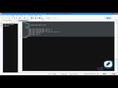 8-  كيف تهيئ Aptana Studio للكتابة بلغة PHP