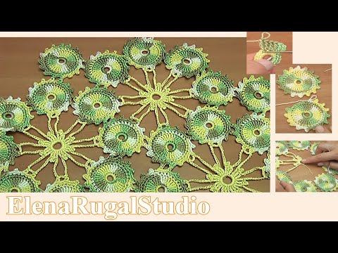 Crochet Small Round Motif Tutorial 3 How To Join Crochet Motifs