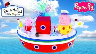 Play Doh Egg Peppa Pig Holiday Boat Grandpa Pig's Surprise Eggs Toy Delivery Episode Dctc