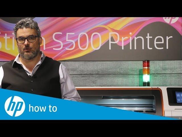 Latarnia statusu - drukarki sublimacyjne HP Stitch