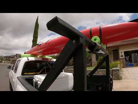 DIY 2x4 Wood Truck Bed Rack for Kayaks, Canoes, Surfboards, etc..