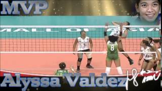 ウィングスパイカー Alyssa Valdez | congratulations MVP Best scorer and Best server