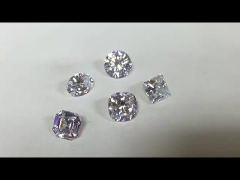 High quality cubic zirconia stones |round cz Princess cut, asscher cut, oval, cushion loose cz