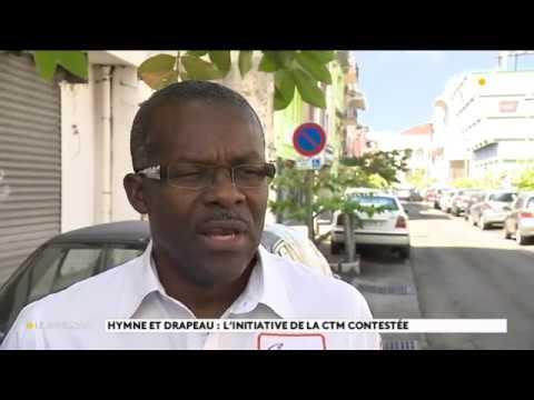 Reportage hymne et drapeau pour la Martinique