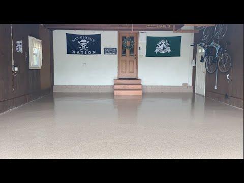 hqdefault - Epoxy Flake Garage Floor With Large Cracks - Concrete Floor Pros