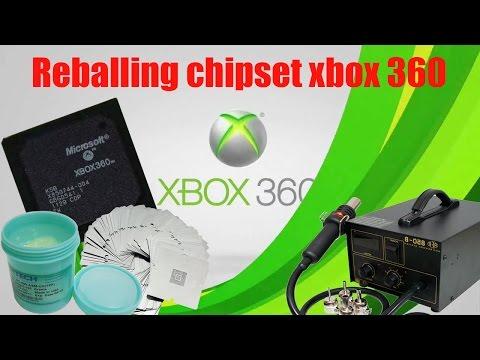 Xbox 360 travando na logo - reballing chipset