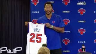 Derrick Rose - Press Conference , New York Knicks , Best moments (HD)