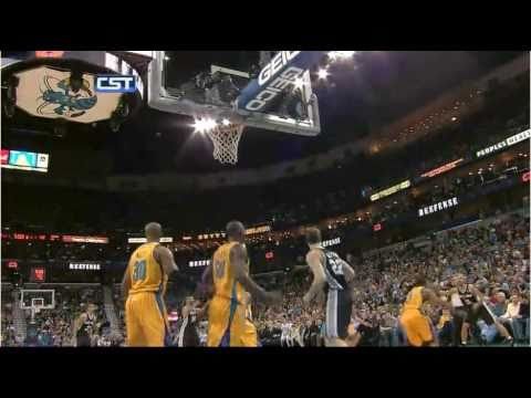 Emeka Okafor two Block in a row (vs. Spurs 22.01.2011)