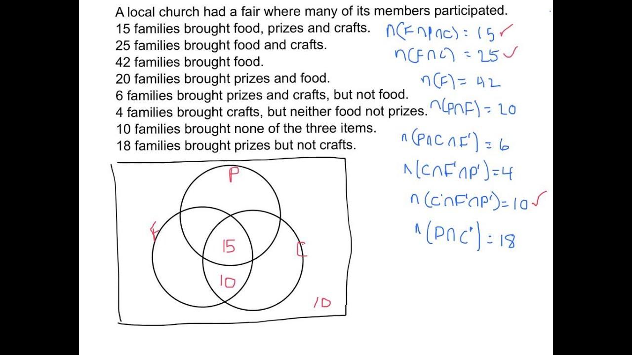 Using Venn Diagrams To Answer Survey Questions 2