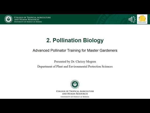 Module 2 Pollination biology