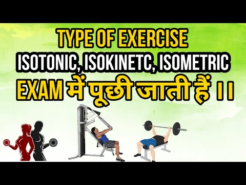 Isotonic isometric and isokinetic exercise easily explained in Hindi