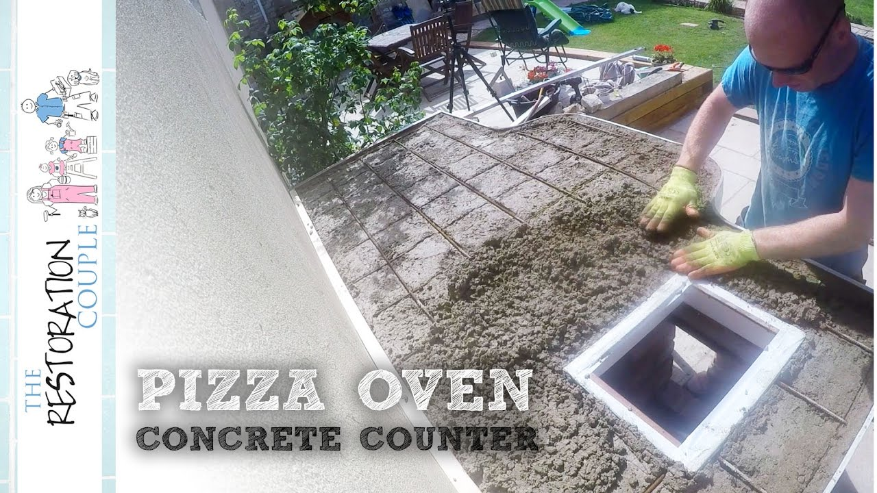Making An Outdoor Kitchen Outdoor Kitchen And Pizza Oven 40 Making A Concrete Countertop