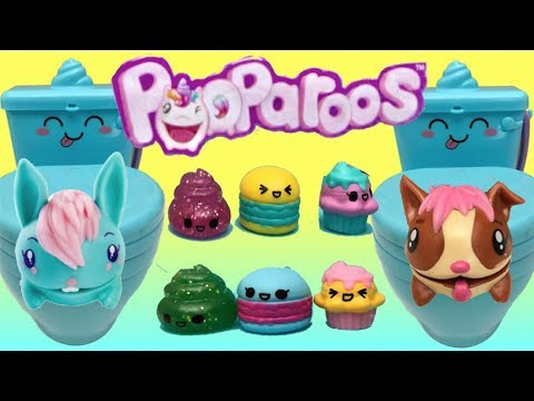 New Pooparoos Toilet Toy With Squishy Toy Inside