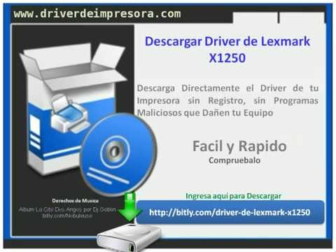 driver lexmark x1250