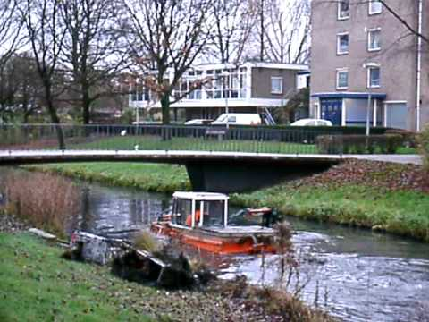 Netherlands Special Canal Cleaning Boat