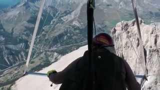 incredible hang gliding views Pic de Bure, French Alps