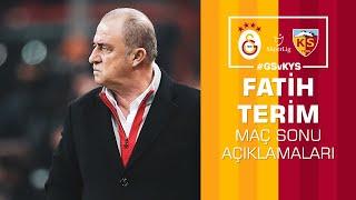 🎙 Teknik direktörümüz Fatih Terim'in maç sonu açıklamaları #GSvKYS
