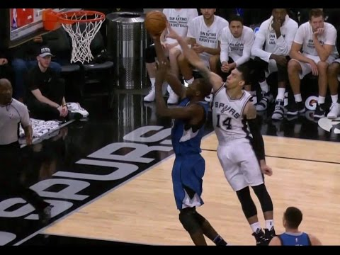Danny Green with Steal, Block, and Deflection in 16 seconds | Spurs vs Timberwolves | 1/17/17