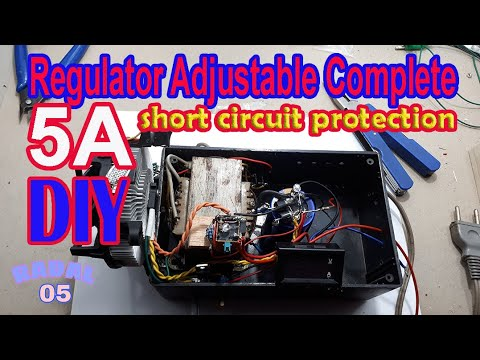 Cara membuat Adjustable Regulator 5A Ide Kreatif Elektronik DIY Rangkaian Penurun Tegngan