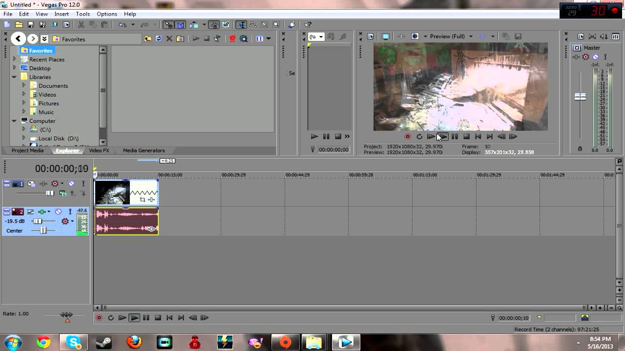 how to make video fast motion in sony vegas