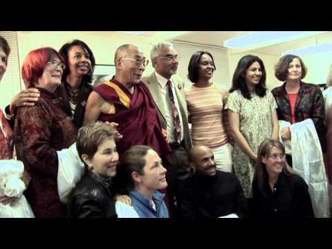 Closeup: The Dalai Lama visits Prof. Clayborne Carson at Stanford