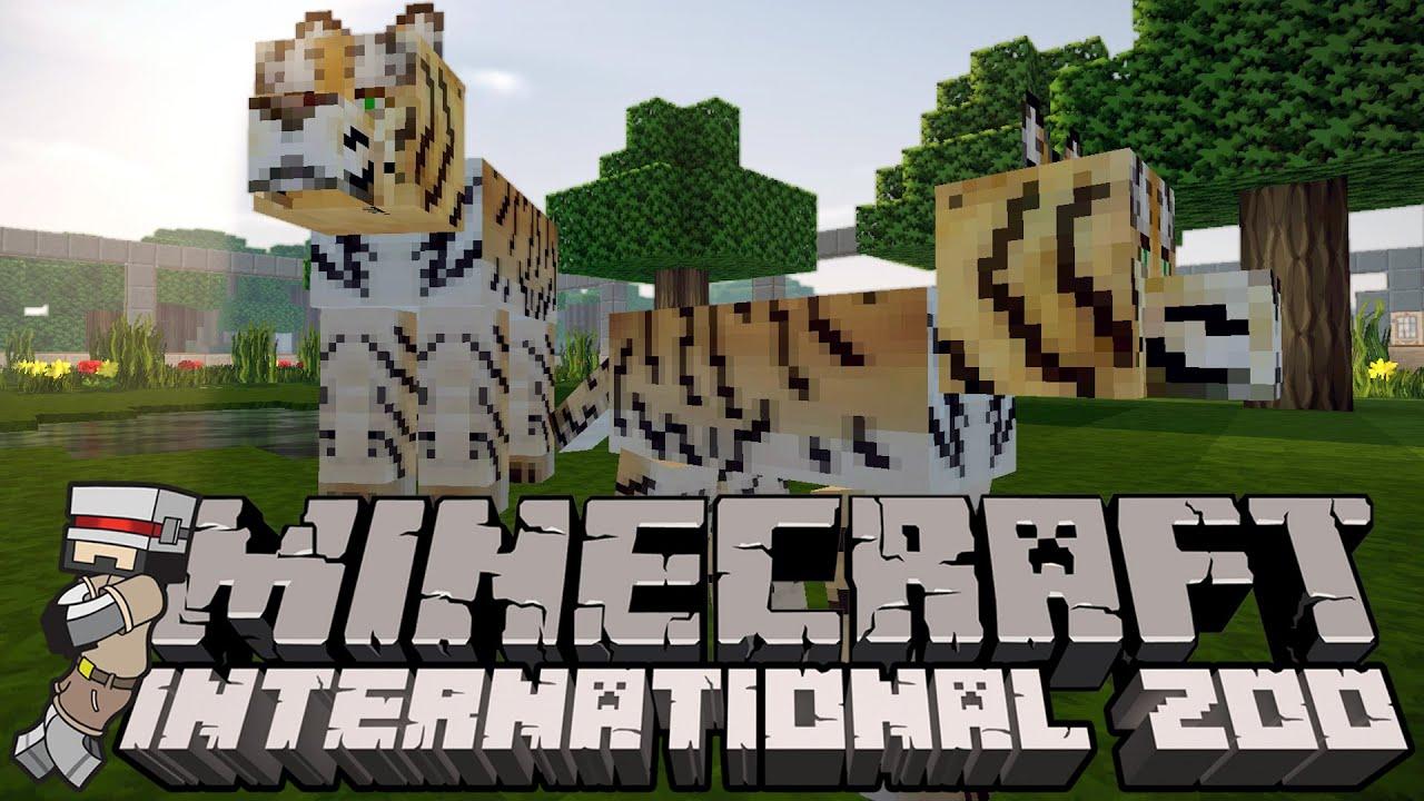 Minecraft International Zoo (MIZ) S122 - WE HAVE A BABY TIGER!!! (Minecraft  12.12 Custom Modpack)