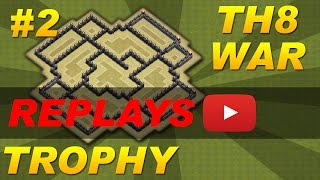 Download lagu BEST Town Hall 8 (TH8) Trophy/War Base Design -Setup #2 Defense Replays (Clash of Clans) Anti-Dragon