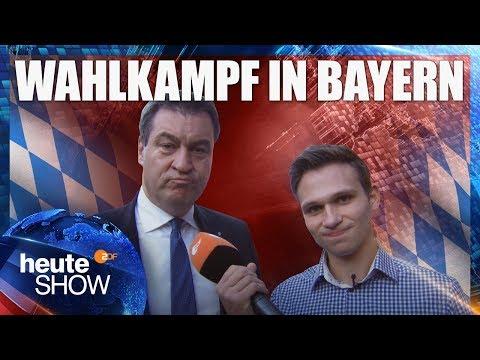 Fabian Köster im Wahlkampf in Bayern | heute-show vom 12.10.2018