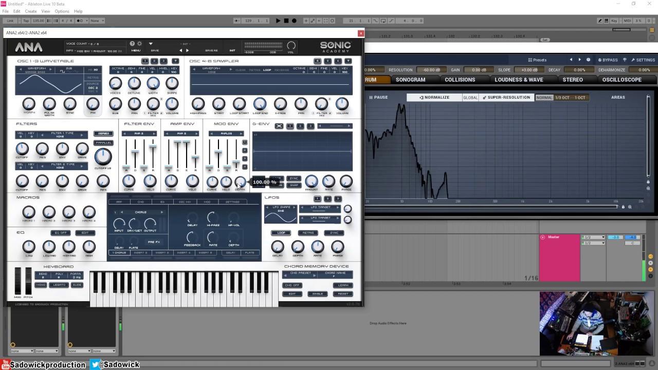sonic academy ana 2 manual