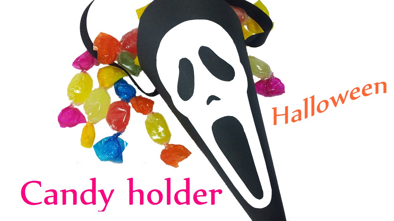 diy crafts (halloween): candy holder scream - innova crafts - youtube