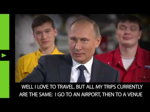 Putin on goals and dreams: I want to successfully complete my career!