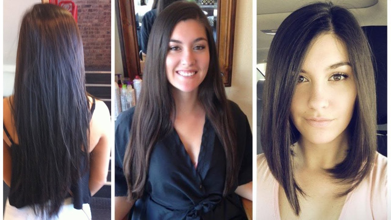 Long To Bob Haircut Makeover From Long Hair To Bob Cut Long To Bob Hair Cut Youtube