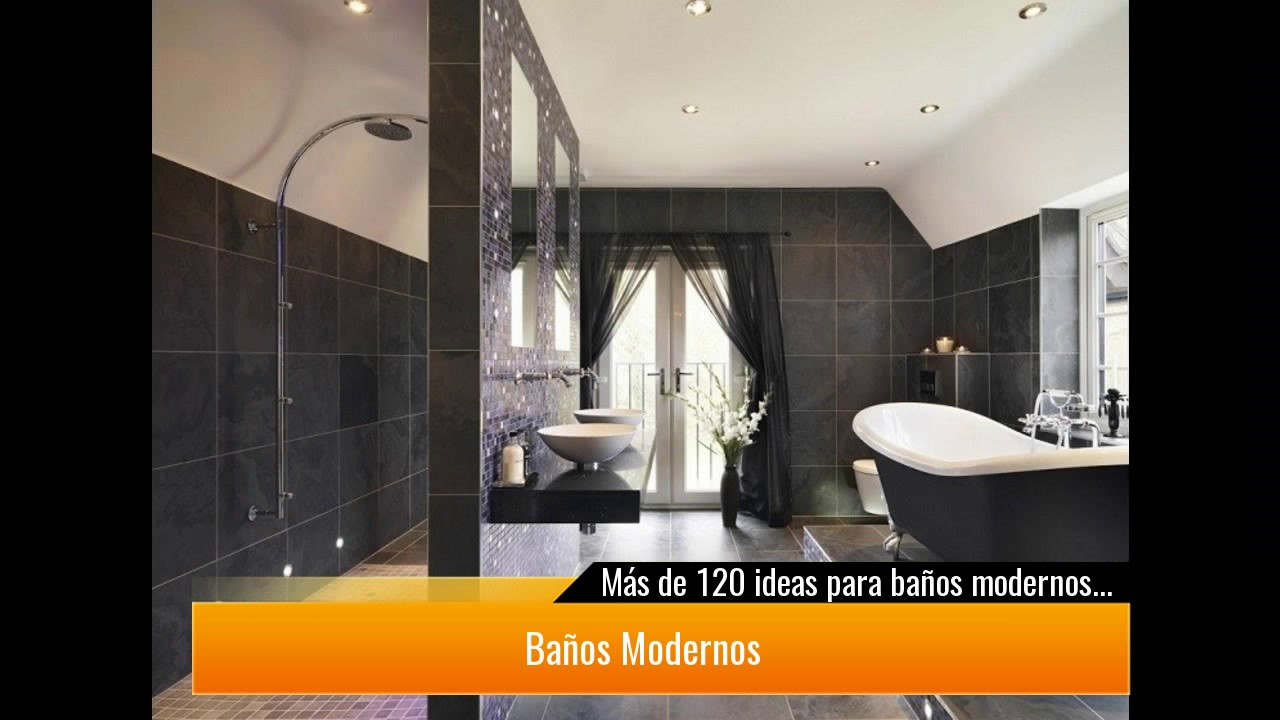 De 120 ideas para ba os modernos 2017 youtube for Banos modernos