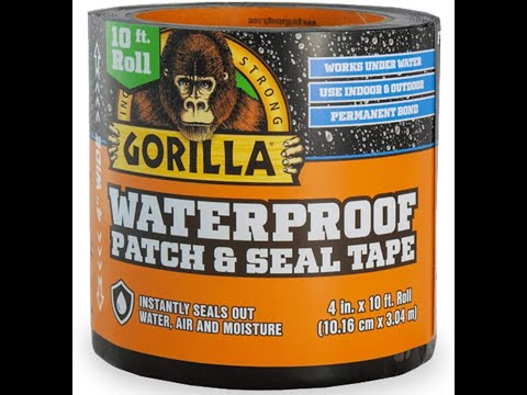"Gorilla Waterproof Patch & Seal Tape 10' x 4""  Black roof repair leak prevention 06-02-2020"