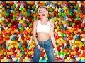 Miley Cyrus at the candy shop