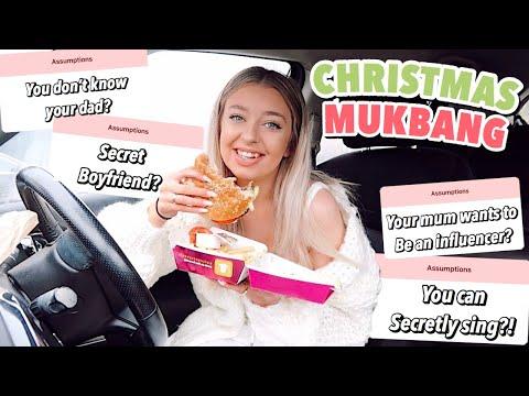 MCDONALD'S CHRISTMAS MENU MUKBANG! My Favourite Burger's Back Bby